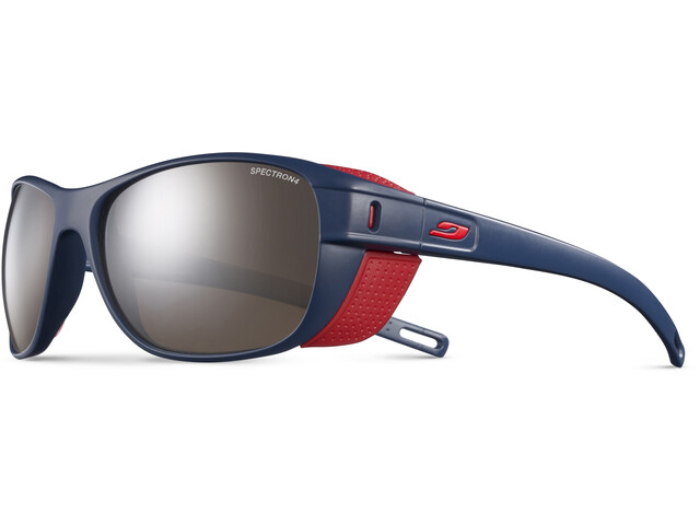 Julbo Camino Spectron 4 Sunglasses Dark Blue/Red-Brown Flash Silver